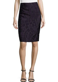 Escada Textured Pencil Skirt, Iris