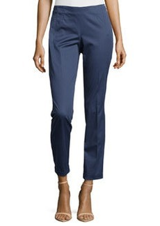 Escada Tildai Slim-Fit Crop Pants, Blueberry Muffin