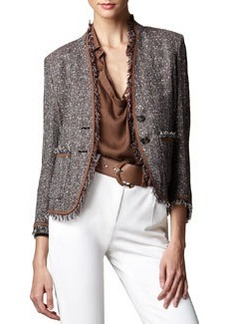 Escada Tweed Two-Button Jacket