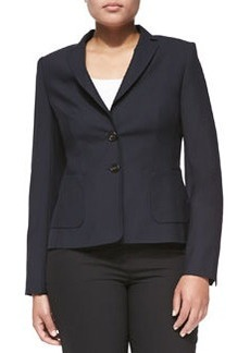 Escada Two-Button Blazer, Navy, Women's