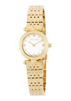 Escada Vanessa Golden Stainless Steel Mini Diamond Watch, White