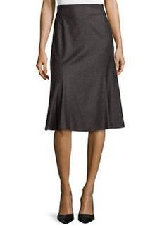 Escada Wool-Blend Flared Godet Skirt