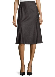 Escada Wool-Blend Flared Godet Skirt