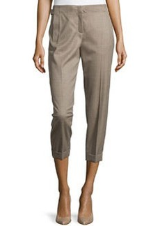 Escada Wool Cropped Pants with Tapered Legs