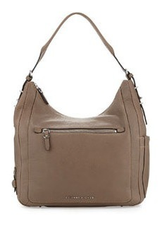 Etienne Aigner Aperature Leather Hobo Bag, Slate