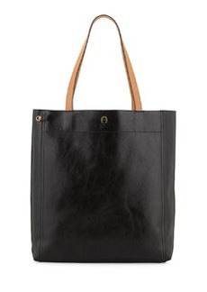 Etienne Aigner Chameleon Leather Tote Bag, Black/Multi
