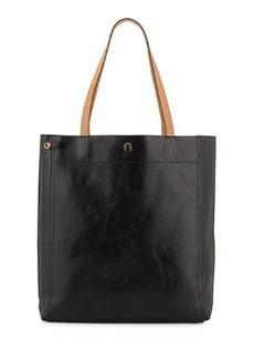 Etienne Aigner Chameleon Leather Tote Bag, Black/Multi