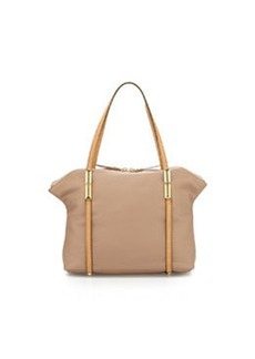 Etienne Aigner Concord Small Leather Tote, Sand