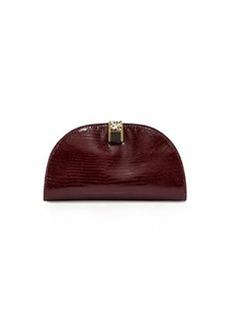 Etienne Aigner Crown Leather Mini-Clutch, Cordovan