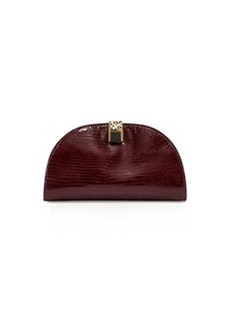 Etienne Aigner Crown Leather Mini-Clutch, Cordovan