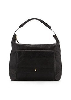 Etienne Aigner Daily Leather Hobo Bag, Black