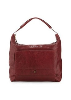 Etienne Aigner Daily Leather Hobo Bag, Cordovan Red