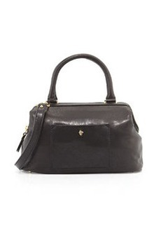 Etienne Aigner Epic Leather Satchel Bag, Black