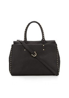 Etienne Aigner Forester Leather Tote Bag, Black