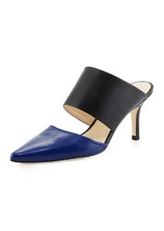 Etienne Aigner Lydia Pointed-Toe Slide, Cobalt Blue/Black