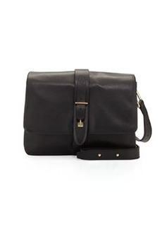 Etienne Aigner Marker Leather Flap-Top Crossbody Bag, Black