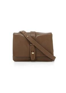 Etienne Aigner Marker Smooth Leather Front Flap Shoulder Bag, Vicuna Green