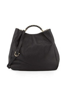 Etienne Aigner Moby Leather Hobo Bag, Black