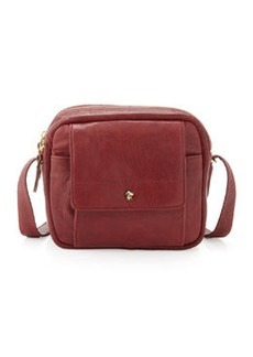 Etienne Aigner The Daily XBody Burnished Full Grain Leather Crossbody Bag, Cordavan Red