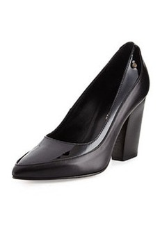Etienne Aigner Zara Leather Layered Pump, Black