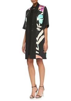 Etro 1/2-Sleeve Floral Kimono Topper Jacket