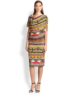 Etro Asymmetrical Drape Jersey Dress
