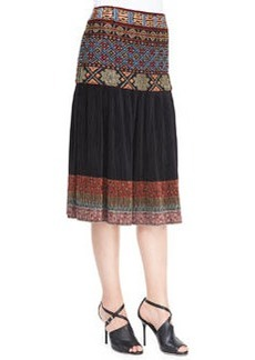 Etro Beaded Embroidered-Waist Skirt