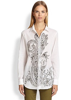 Etro Beaded Paisley-Print Shirt