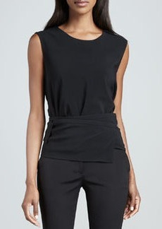Etro Belt-Strap Sleeveless Top, Black