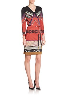 Etro Belted Jersey Tunic Dress