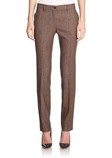 Etro Birdseye Wool & Silk Stretch Pants
