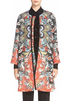 Etro Botanical Knit Duster Coat