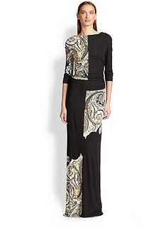 Etro Box-Paisley Jersey Gown