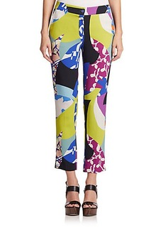 Etro Bubble-Wave Printed Pants