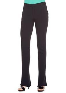 Etro Cady Flare-Leg Pants, Black