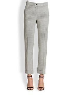 Etro Cady Geo-Print Cuffed Pants