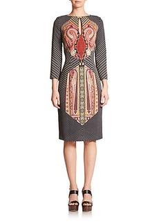Etro Cady Totem Print Dress