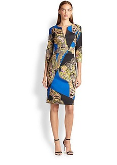 Etro Chain & Paisley Print Dress