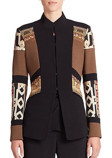 Etro Collared Colorblock Jacket