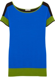 Etro Color-block wool-jersey top