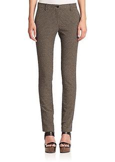 Etro Cravat-Print Slim-Leg Pants