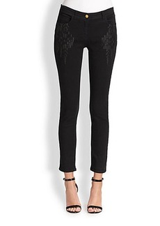 Etro Cropped Embroidery-Detail Jeans