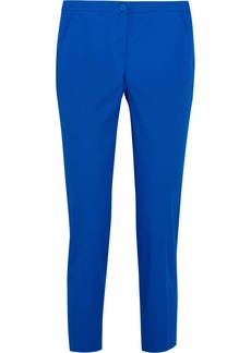 Etro Cropped stretch-cotton twill straight-leg pants