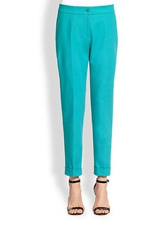 Etro Cuffed Stretch Cotton Pants