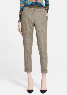 Etro Cuffed Tweed Pants