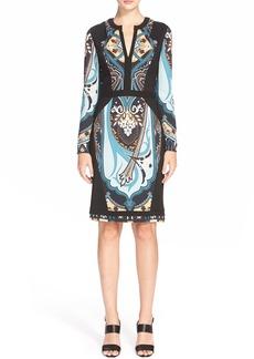 Etro Deco Print Stretch Crepe Dress