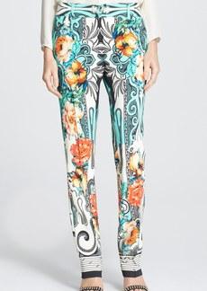 Etro Dhely Rose Print Cady Pants