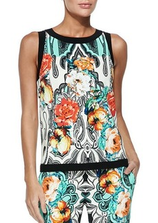 Etro Dhely Rose-Print Top