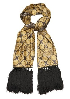 Etro Double-sided silk-blend scarf