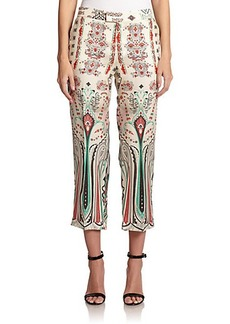 Etro Dream Weaver Cropped Trousers